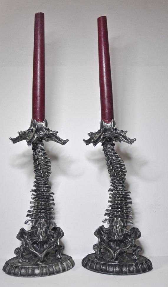 Helix Ossuary Candlestick holders