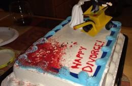 Bride puts husband in wood chipper divorce sheet cake | riotdaily.com