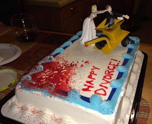 Bride puts husband in wood chipper divorce sheet cake   riotdaily.com