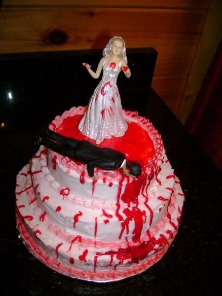 Bride kills groom bloody divorce cake | riotdaily.com