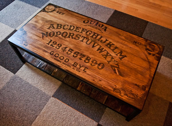 "don't play it alone!"" 16 ouija board inspired tables 