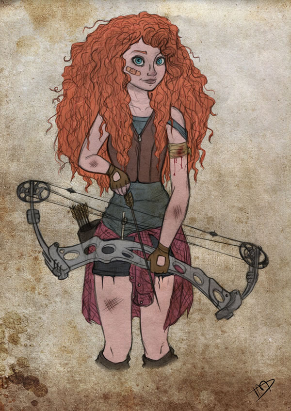 the_walking_disney___merida_by_kasami_sensei-d79q92u
