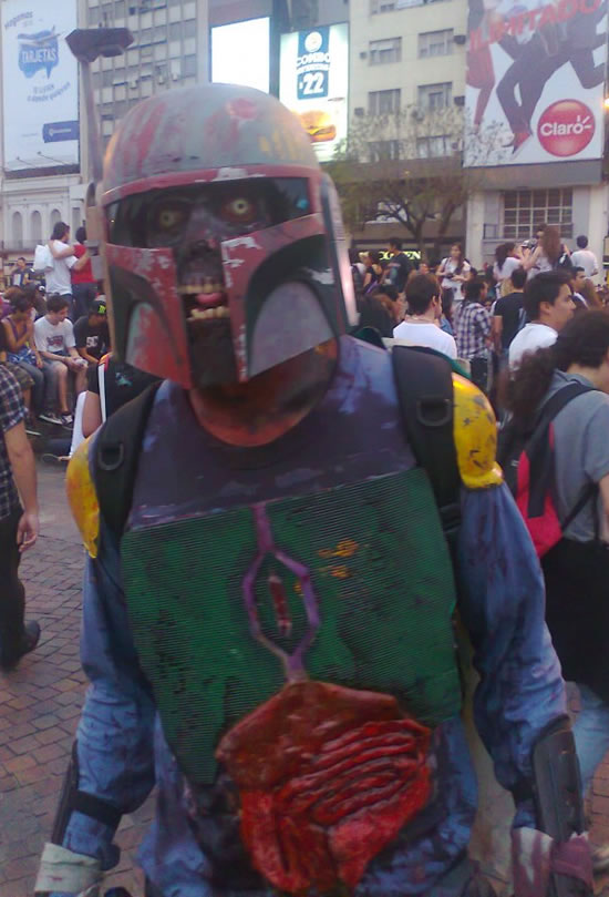 """May The Zombie Force Be With You."" Horrific, Zombie Star ..."