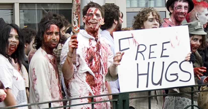 Quot It S A Trap Quot Beware Of Zombies Offering You Free Hugs