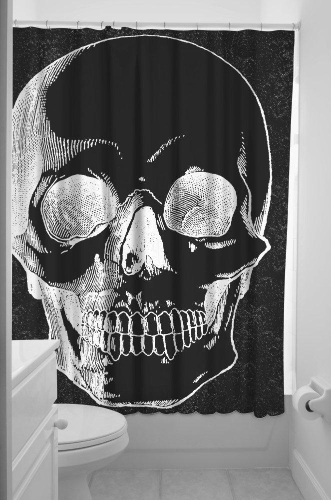 Anatomical-Skull-Shower-Curtain