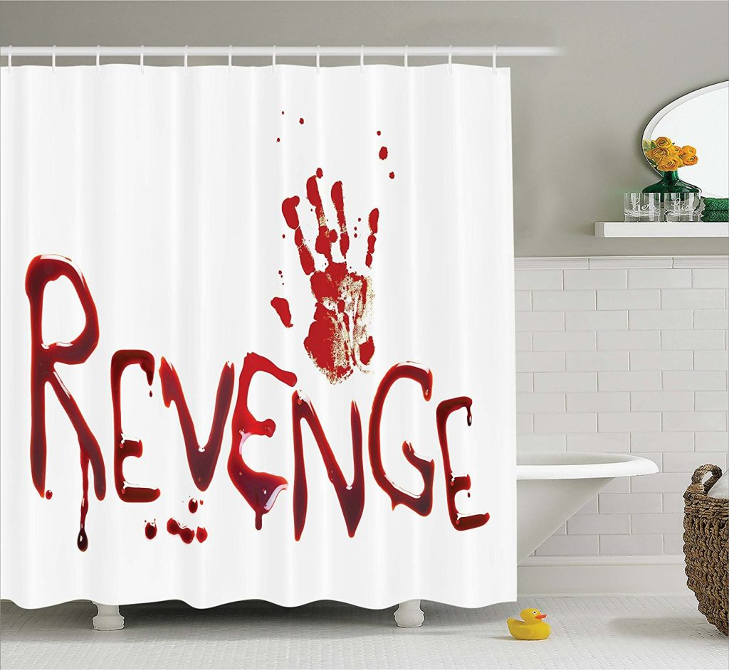 Revenge Bloody Shower curtain horror scary