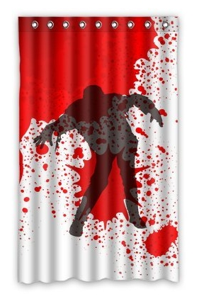 Undead_Dead_Walking_Zombie_Shower_Curtain