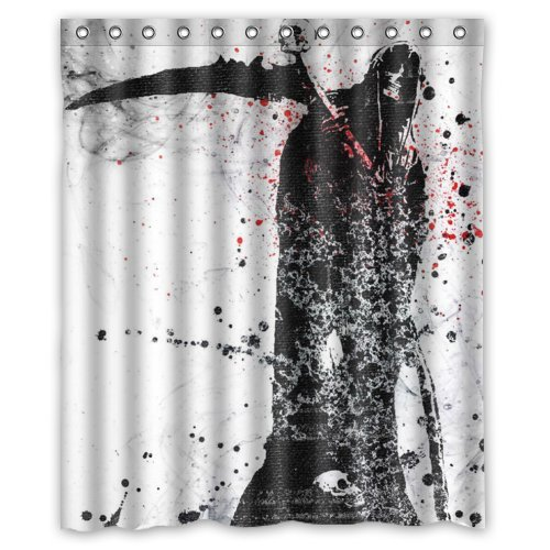death grim reaper shower curtain