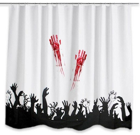 horror Zombie Shower Curtain