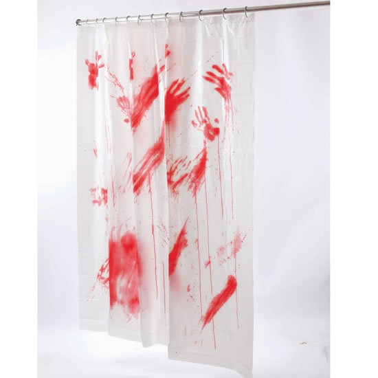 Horror Bloody Shower Curtain