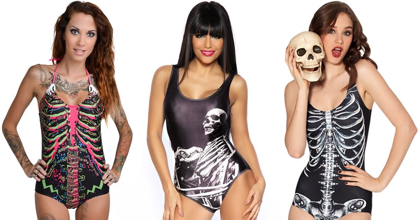 Death Becomes You. 12 Skeleton Inspired Swimsuits