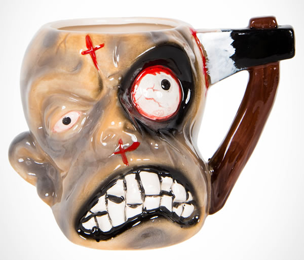 Tortured Hatched Head Zombie Mug