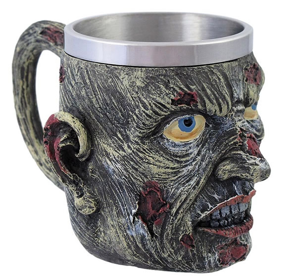 Decomposing Creepy Zombie Head Coffee Mug