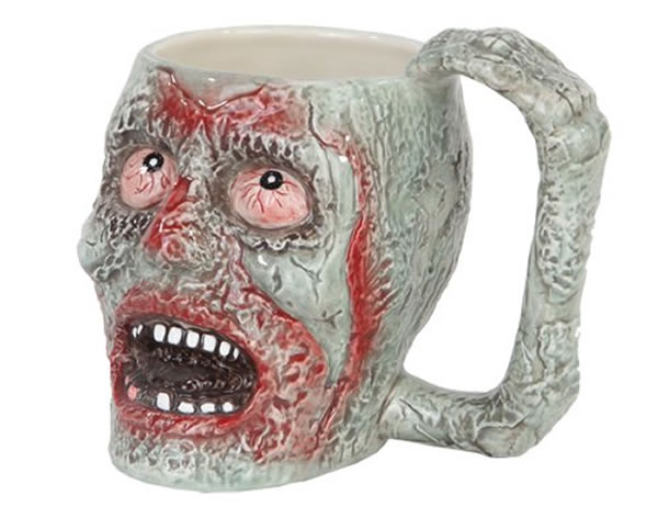 Decaying Green Zombie Head Coffee Mug Gift