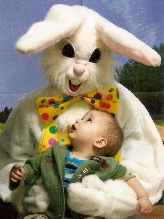 creepy easter bunnys